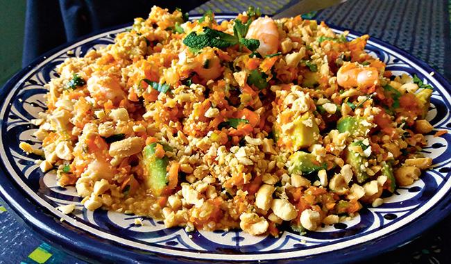 Salade aux crevettes et citron vert